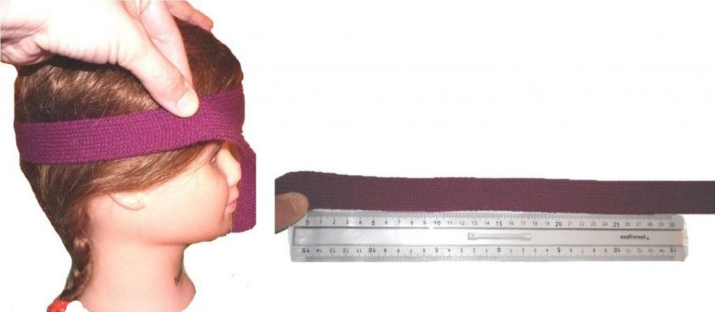 mesurer tete enfant avec ficelle