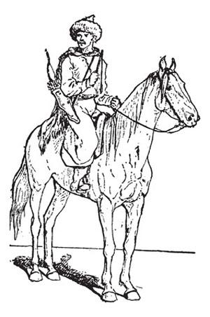 mongol avec une chapka