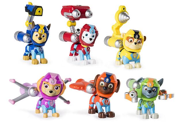 figurines de la Pat Patrouille que l'on trove facilement dans les rayons jouets
