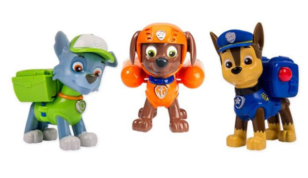 Figurines de Rocky, Zuma et Chase de l aPat Patrouille